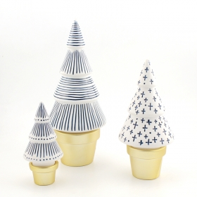 White ceramic christmas tree figurine